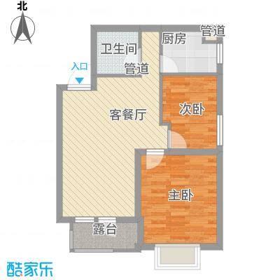 城市玫瑰园75.10㎡城市玫瑰园户型图A1-012室2厅1卫户型2室2厅1卫