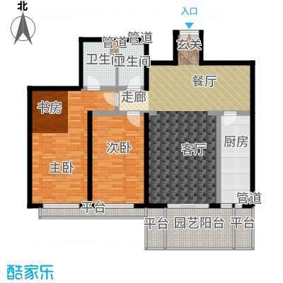 世纪城国际公馆二期144.00㎡世纪城国际公馆二期4室户型4室