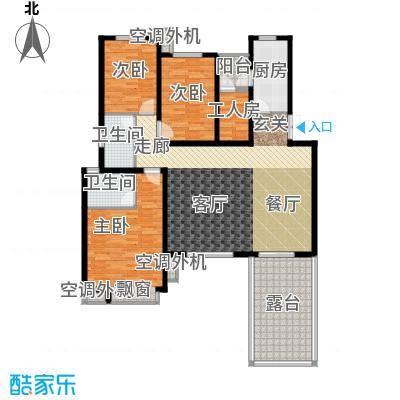 世纪城国际公馆二期146.00㎡世纪城国际公馆二期3室户型3室