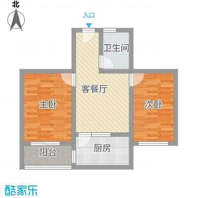 天业翠苑72.60㎡天业翠苑2室户型2室