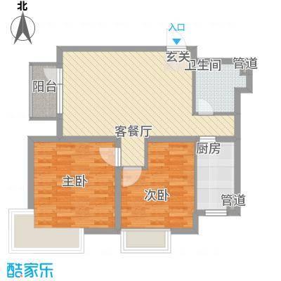 万恒愿景86.00㎡万恒愿景户型图G3户型2室2厅1卫1厨户型2室2厅1卫1厨