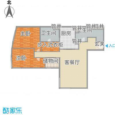 新地国际公寓苏寓315.00㎡新地国际公寓苏寓户型图2#楼R01户型2室2厅2卫1厨户型2室2厅2卫1厨