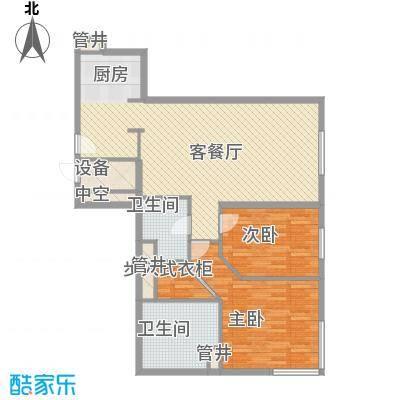 新地国际公寓苏寓124.00㎡新地国际公寓苏寓户型图3#E06户型2室2厅2卫1厨户型2室2厅2卫1厨