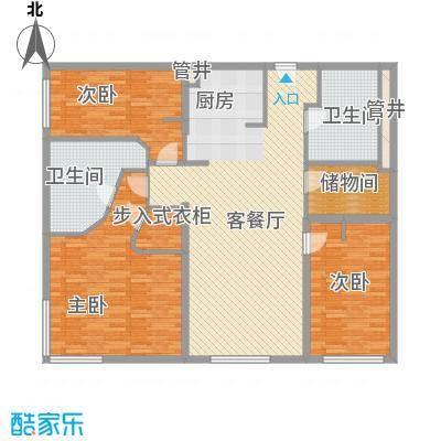 新地国际公寓苏寓166.00㎡新地国际公寓苏寓户型图2#K04户型3室2厅2卫1厨户型3室2厅2卫1厨