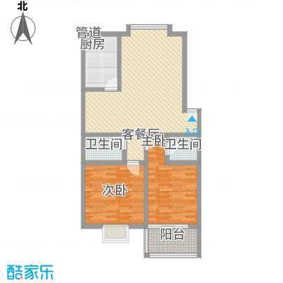 天业翠苑106.00㎡天业翠苑2室户型2室
