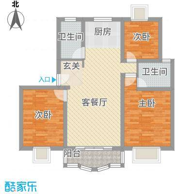 锦梓家园100.00㎡锦梓家园3室户型3室