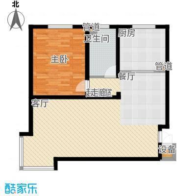 山景明珠花园87.00㎡山景明珠花园户型图14号楼户型43室户型3室