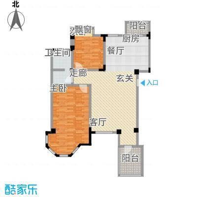 长河湾103.80㎡长河湾户型图A082室2厅1卫户型2室2厅1卫