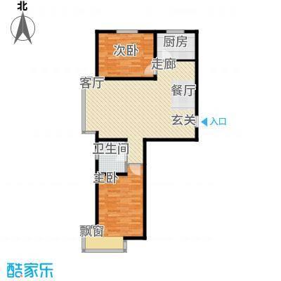 长河湾79.63㎡长河湾户型图B012室2厅户型2室2厅