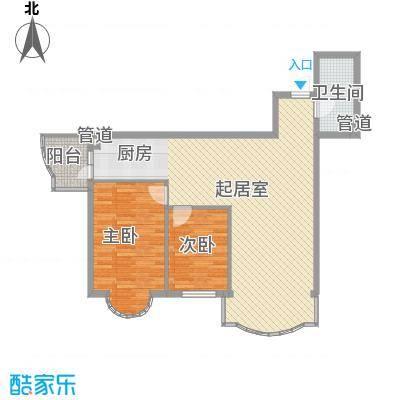 东泰金谷东泰金谷户型图户型使用面积83.32㎡2室2厅1卫1厨户型2室2厅1卫1厨