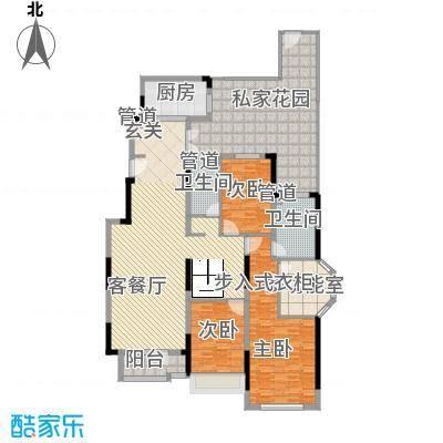 藏珑1620172.00㎡藏珑1620户型图洋房一层B1户型3室2厅2卫1厨户型3室2厅2卫1厨