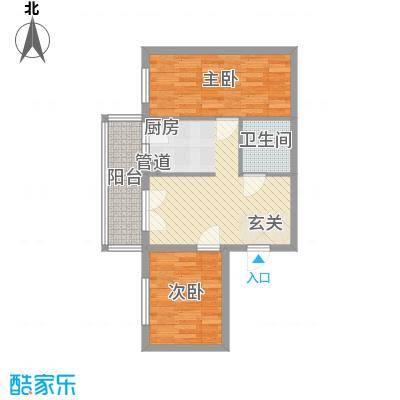 明园丽景54.56㎡明园丽景户型图2室2厅1卫1厨户型10室