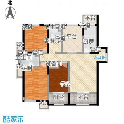 浦江御景湾147.36㎡浦江御景湾户型图C5户型3室2厅1卫1厨户型3室2厅1卫1厨
