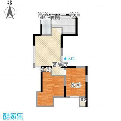 溪湖芳庭75.90㎡溪湖芳庭户型图B1-a户型2室1厅1卫户型2室1厅1卫
