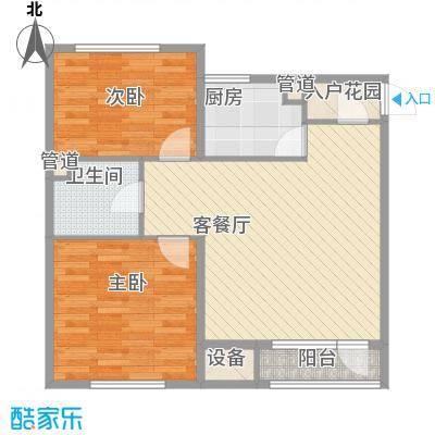 银亿格兰郡83.00㎡银亿格兰郡户型图G3户型2室2厅1卫户型2室2厅1卫