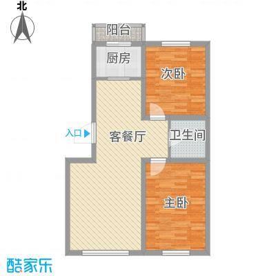 博客地带79.44㎡博客地带户型图二期多层83.75\2室2厅1卫户型2室2厅1卫