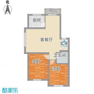 博客地带81.85㎡博客地带户型图二期多层2室2厅1卫户型2室2厅1卫