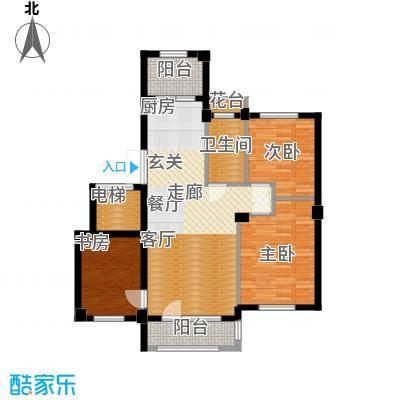 富贵南山91.39㎡富贵南山户型图10#楼E户型3室2厅2卫1厨户型3室2厅2卫1厨