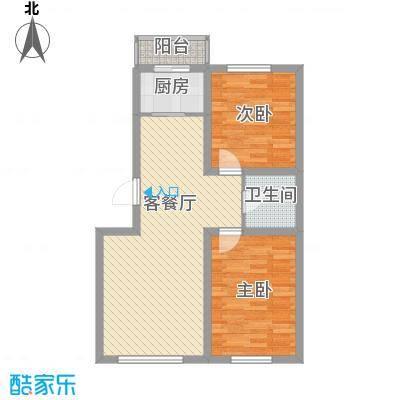 博客地带83.75㎡博客地带户型图2室2厅1卫户型10室