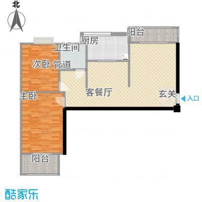 凯旋新城106.00㎡凯旋新城户型图A7户型(售完)2室2厅1卫户型2室2厅1卫