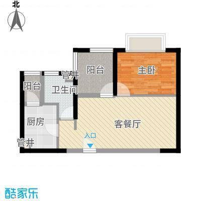 元美广场 1室 户型图