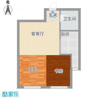新华国际公寓E号63.69㎡新华国际公寓E号户型图B户型图1室2厅1卫1厨户型1室2厅1卫1厨
