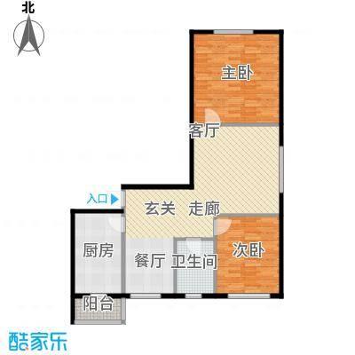 新汉城锦都88.00㎡新汉城锦都2室户型2室
