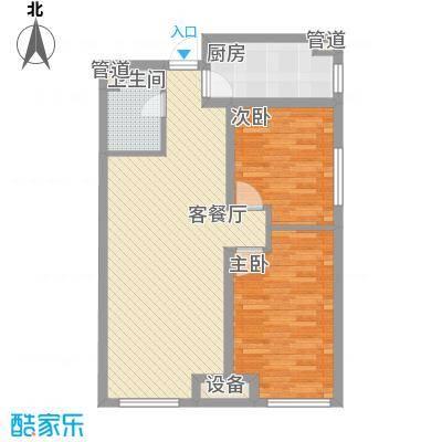 金地名京85.00㎡金地名京户型图C户型2室2厅1卫户型2室2厅1卫