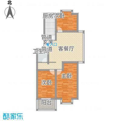 福润康城108.31㎡福润康城户型图三室两厅一卫3室2厅1卫户型3室2厅1卫