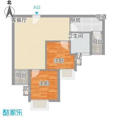 金田花园74.00㎡金田花园2室户型2室