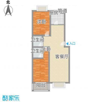 天业翠苑109.51㎡天业翠苑2室户型2室