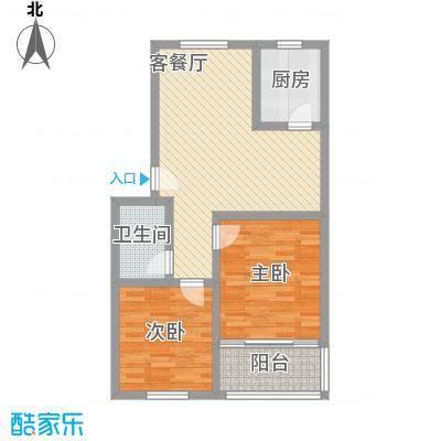 天业翠苑87.38㎡天业翠苑2室户型2室