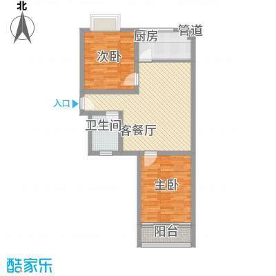 天业翠苑85.80㎡天业翠苑2室户型2室