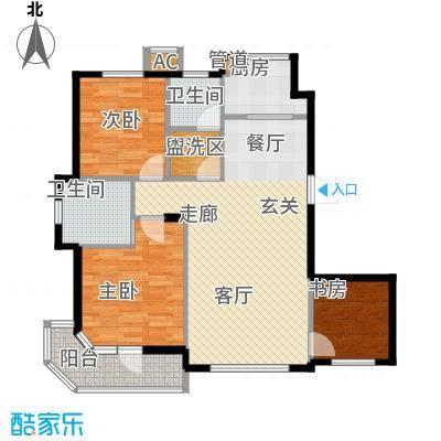 锦绣暖山107.00㎡锦绣暖山户型图18#楼A户型3室2厅2卫1厨户型3室2厅2卫1厨
