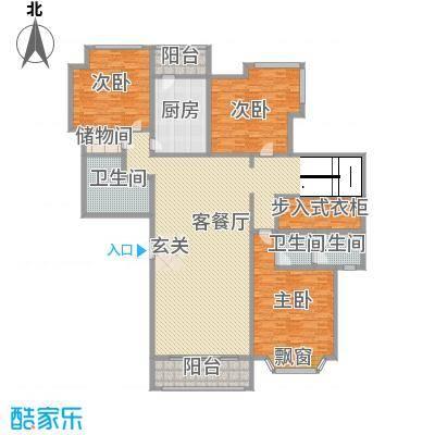 泉城1高户型图复式A户型 3室2厅2卫1厨
