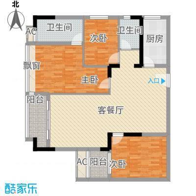 稻花村106.00㎡稻花村3室户型3室