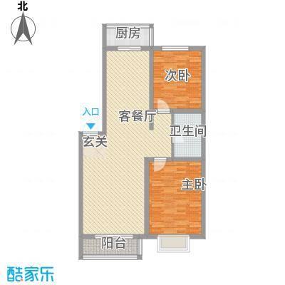 心海阳光106.42㎡心海阳光户型图2室2厅1卫户型10室