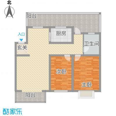 心海阳光106.98㎡心海阳光户型图2室2厅1卫户型10室