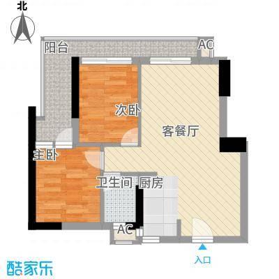 稻花村62.00㎡稻花村2室户型2室