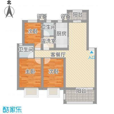 海关宿舍92.00㎡海关宿舍3室户型3室