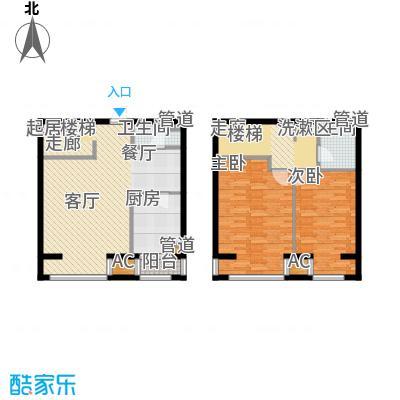 水木清华102.42㎡水木清华户型图2室2厅2卫户型10室