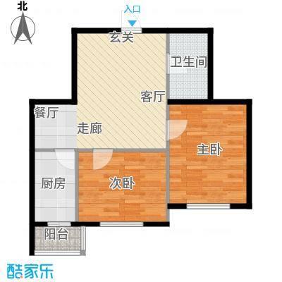 新汉城锦都62.81㎡新汉城锦都户型图B户型2厅1卫1厨户型2厅1卫1厨