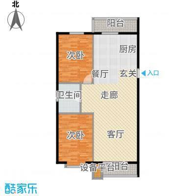 新汉城锦都108.00㎡新汉城锦都户型图T户型2室2厅1卫1厨户型2室2厅1卫1厨