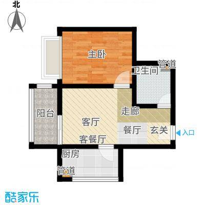 椰河湾椰河湾户型图B户型1室1厅1卫1厨户型1室1厅1卫1厨