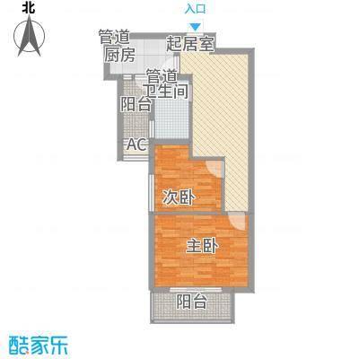 南城鸿福广场80.00㎡鸿福广场2室户型2室