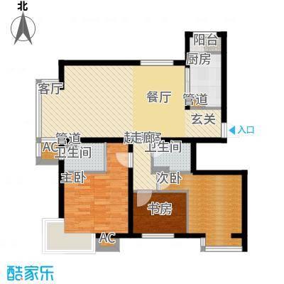 水木清华122.74㎡水木清华户型图3室2厅2卫户型10室