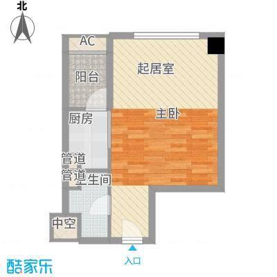 南城鸿福广场55.00㎡鸿福广场1室户型1室