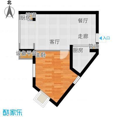 新希望家园52.40㎡新希望家园户型图1#楼D户型1室1厅1卫1厨户型1室1厅1卫1厨