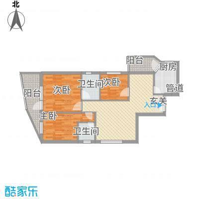 骏马山庄137.00㎡骏马山庄3室户型3室