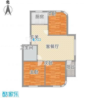 水岸花都106.20㎡水岸花都户型图106.20平户型3室2厅1卫1厨户型3室2厅1卫1厨